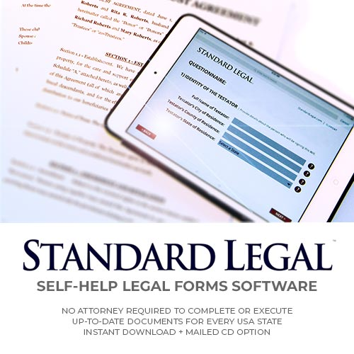 Standard Legal Self Help Legal Forms Software