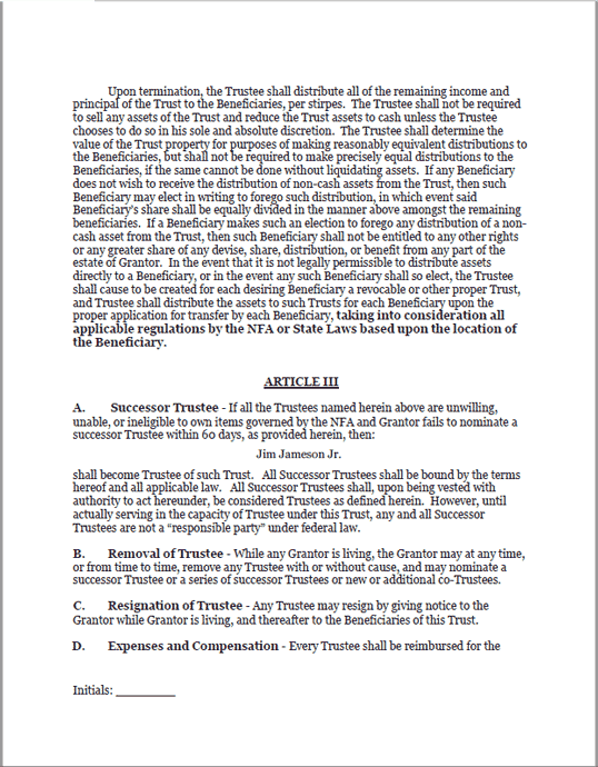 Standard Legal Gun Trust Document sample page 2