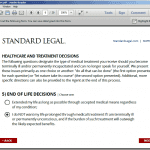Standard Legal Living Will Q&A Selection