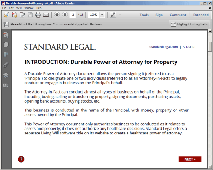 Standard Legal Power of Attorney Q&A Introduction