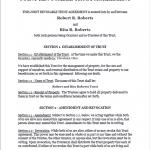 Standard Legal Living Trust Document